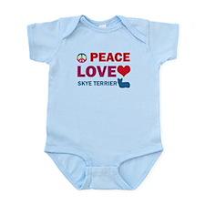 Peace Love Skye Terrier Infant Bodysuit