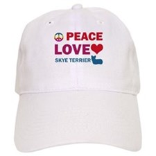 Peace Love Skye Terrier Baseball Cap