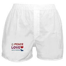Peace Love Skye Terrier Boxer Shorts