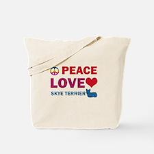 Peace Love Skye Terrier Tote Bag