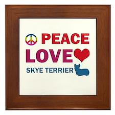 Peace Love Skye Terrier Framed Tile