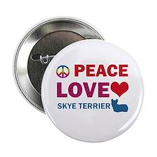 "Peace Love Skye Terrier 2.25"" Button"