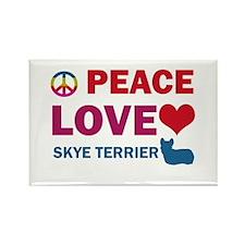 Peace Love Skye Terrier Rectangle Magnet (100 pack