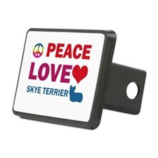Peace Love Skye Terrier Hitch Cover