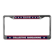 Save Collective Bargaining License Plate Frame