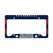 Save Collective Bargaining License Plate Holder