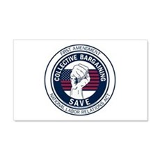 Save Collective Bargaining 22x14 Wall Peel