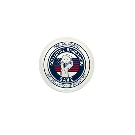 Save Collective Bargaining Mini Button (10 pack)
