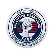 Save Collective Bargaining Ornament (Round)