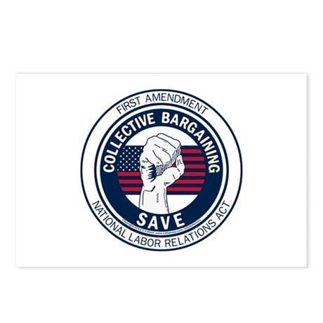 Save Collective Bargaining Postcards (Package of 8