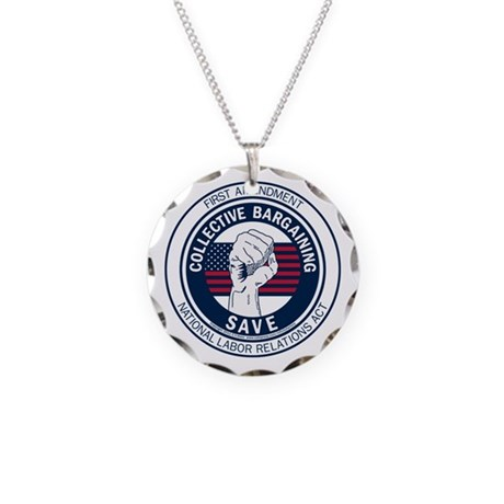 Save Collective Bargaining Necklace Circle Charm
