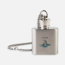 I am a Dolphin Flask Necklace