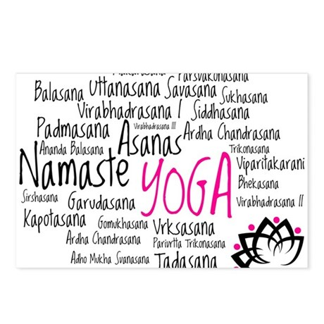 Namaste Yoga Asanas Poses Postcards (Package of 8)