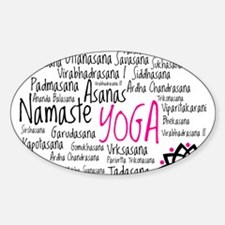 Namaste Yoga Asanas Poses Sticker (Oval)