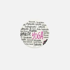 Namaste Yoga Asanas Poses Mini Button (100 pack)