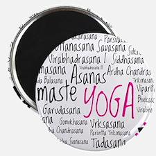 """Namaste Yoga Asanas Poses 2.25"""" Magnet (100 pack)"""