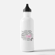 Namaste Yoga Asanas Poses Water Bottle