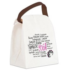Namaste Yoga Asanas Poses Canvas Lunch Bag