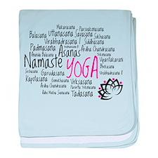 Namaste Yoga Asanas Poses baby blanket