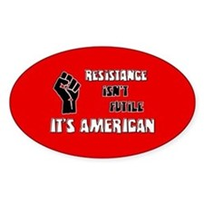 Resistance It's American Decal