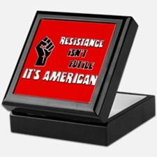 Resistance It's American Keepsake Box