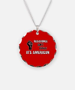 Resistance It's American Necklace