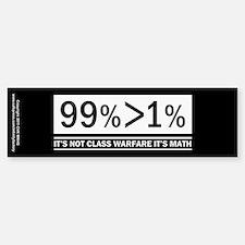 Not Class Warfare Math Bumper Bumper Sticker