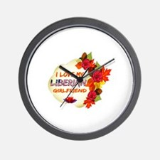 Liberian Girlfriend Valentine design Wall Clock