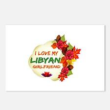 Libyan Girlfriend Valentine design Postcards (Pack