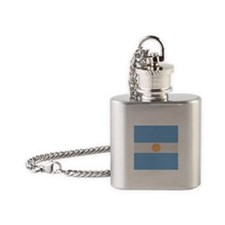 """Argentina Flag"" Flask Necklace"