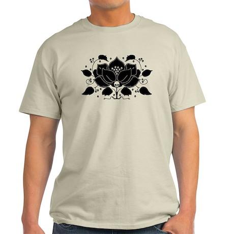 Gothic Skull Lily Light T-Shirt