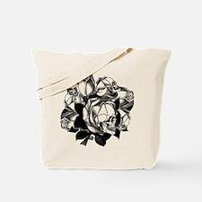 Skull Roses Tote Bag