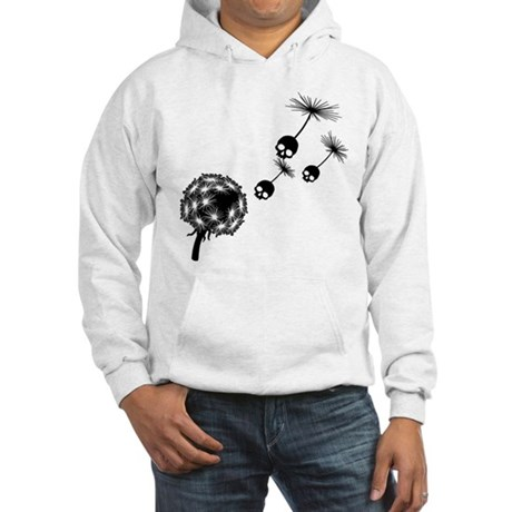 Skull Dandelion Seeds Hooded Sweatshirt