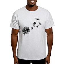 Skull Dandelion Seeds T-Shirt