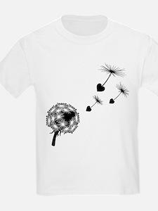 Dandelion Heart Seeds T-Shirt