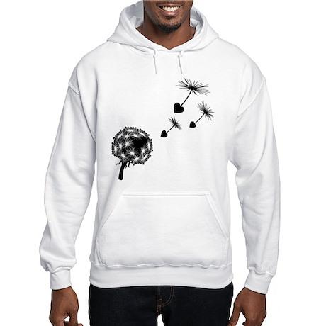 Dandelion Heart Seeds Hooded Sweatshirt