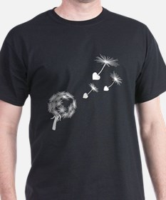 Dandelion Heart Seeds T-Shirt
