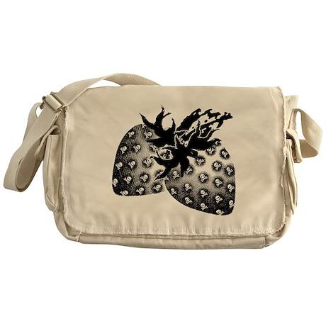 Gothic Strawberries Messenger Bag