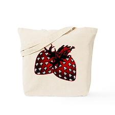 Skull Strawberries Tote Bag