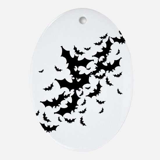 Lots Of Bats Ornament (Oval)