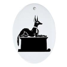 Jackal On Shrine Ornament (Oval)