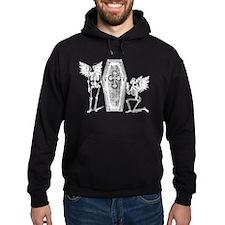 Winged Skeletons And Coffin Hoodie