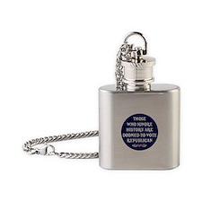 IGNORE HISTORY VOTE REPUBLICA Flask Necklace