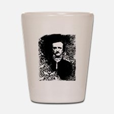 Poe On Raven Pattern Shot Glass