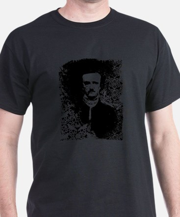 Poe On Raven Pattern T-Shirt