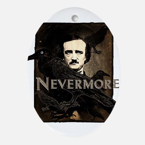 Poe Raven Nevermore Ornament (Oval)