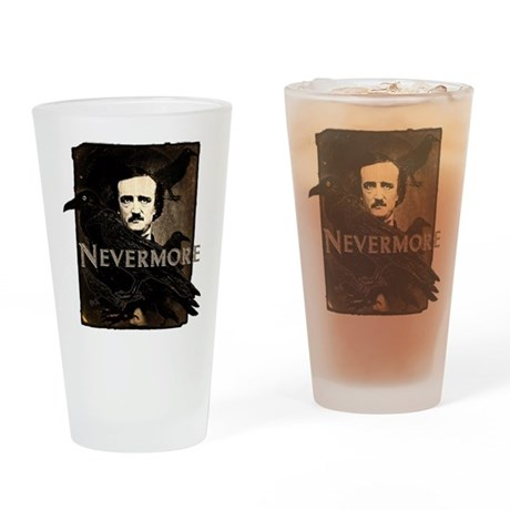 Poe Raven Nevermore Drinking Glass
