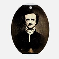 Vintage Poe Portrait Ornament (Oval)