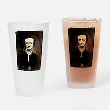 Vintage Poe Portrait Drinking Glass