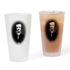 Halftone Poe Drinking Glass